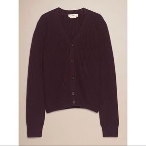 Aritzia TNA Spectra Cardigan in Burgundy